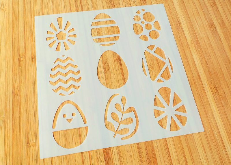 Patterned Eggs Stencil