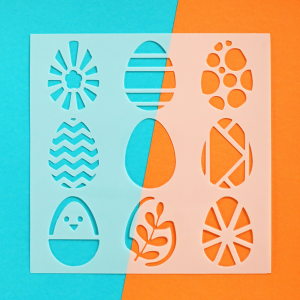 Patterned Eggs 6x6 Stencil Happy Scatter