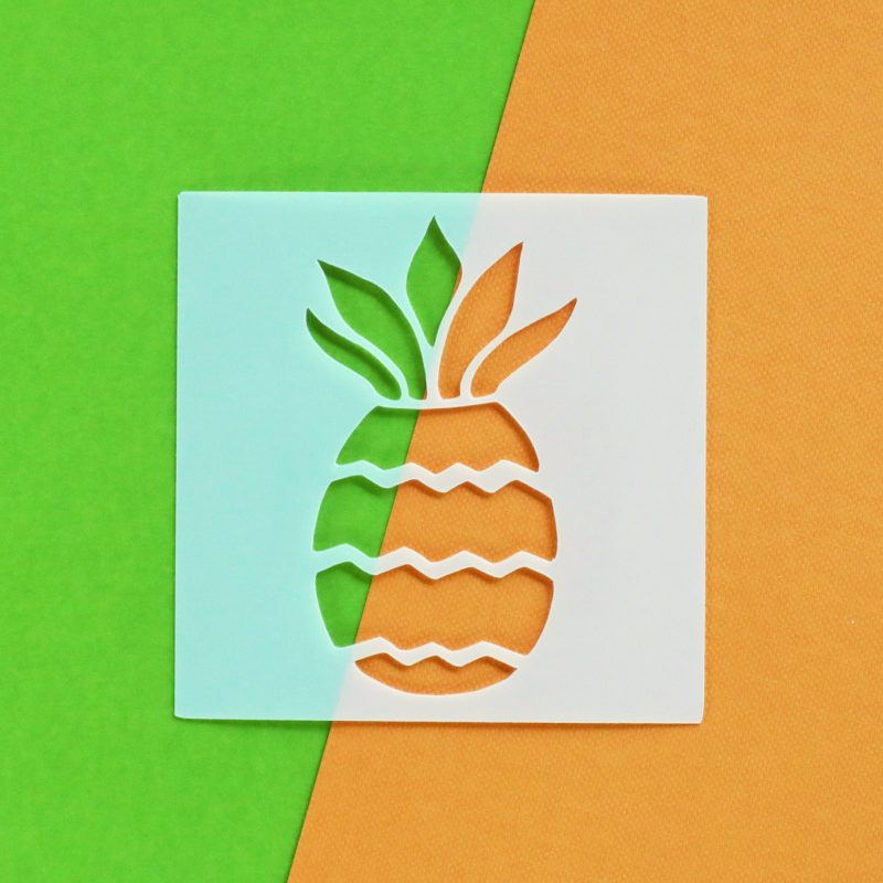 Pineapple 3x3 Stencil Happy Scatter