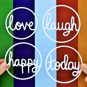 Circle Words Cut For You File Happy Scatter