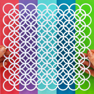 Circles On Circles Lattice Happy Scatter