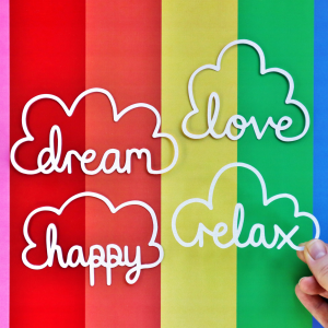 Cloud Words Cut For You File Happy Scatter