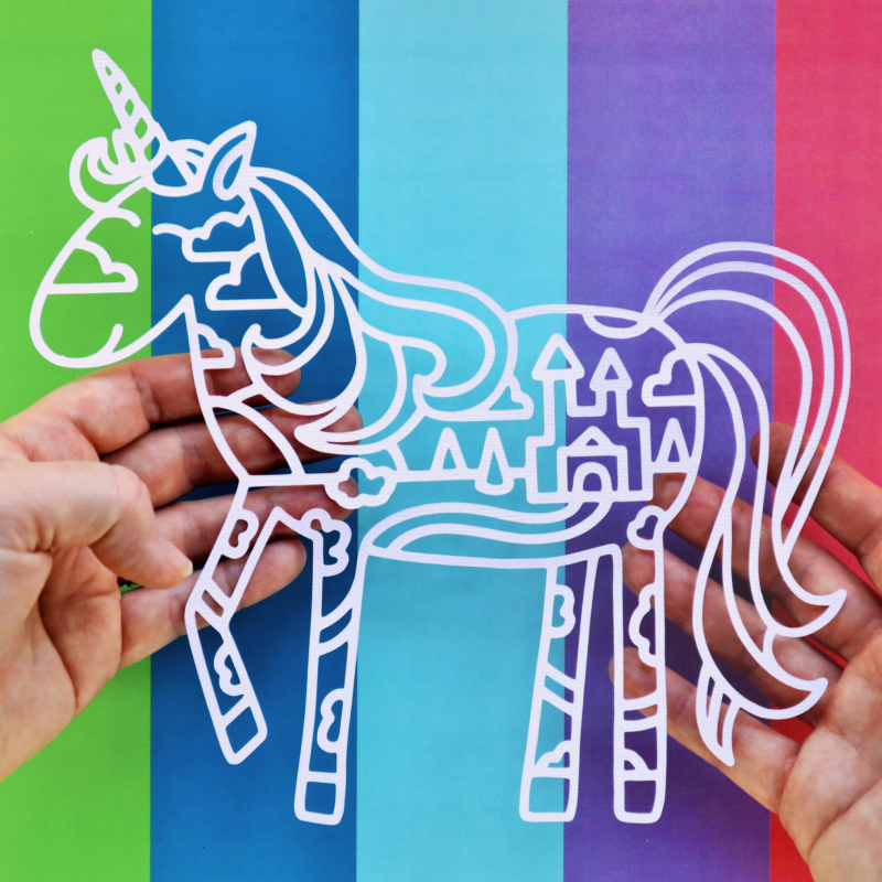 Filled Unicorn Cut For You Happy Scatter
