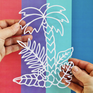 Palm Tree and Leaves Cut For You File Happy Scatter