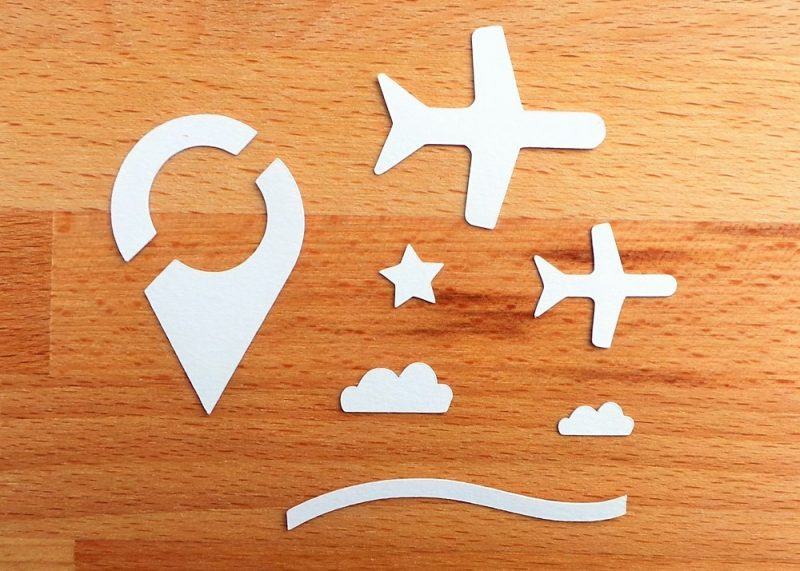Travel 3x4 Die Cut Cards Spare Shapes