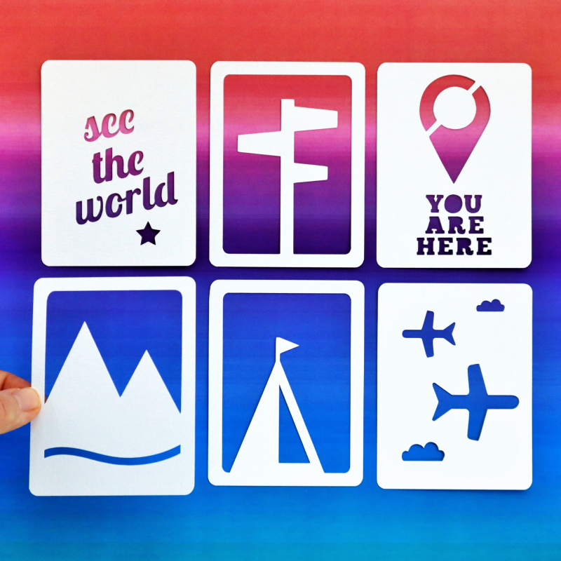 Travel 3x4 Cards Happy Scatter